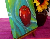 A is for Apple --Original Acrylic Painting