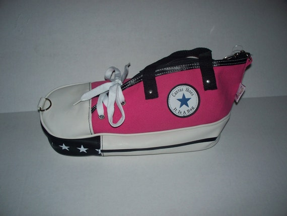 Pink or Black Canvas Shoe Bag