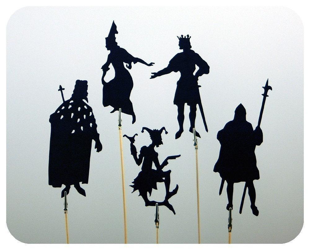 Fairytale Court I Shadow Puppet Set