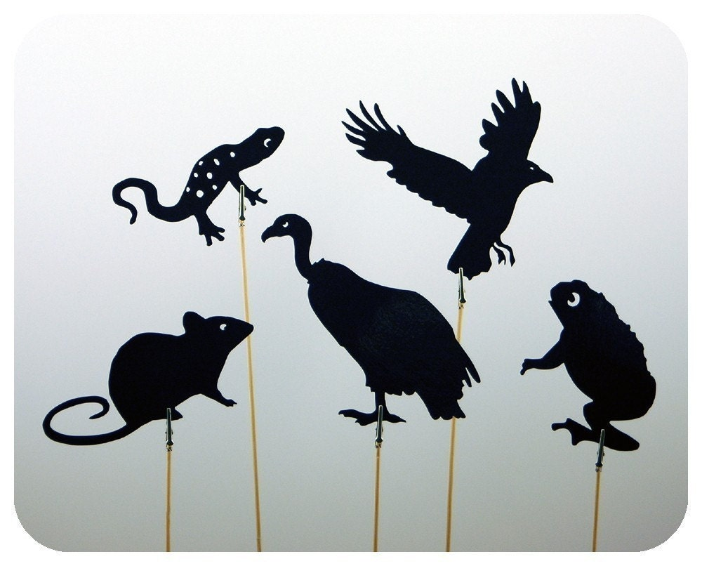 Creepy Critters Shadow Puppet Set