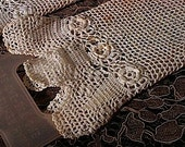 WINTER SALE - Antique Hand Crochet Irish Lace Gloves - Vintage Glove Stretchers included