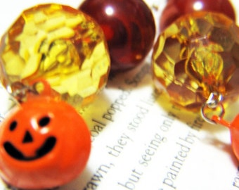 Pumpkin Bells Dangling Earrings