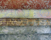Batik  teal bundle sampler / Batik fabric / Java batik / Galaxy fabrics / batik 1 yard cuts