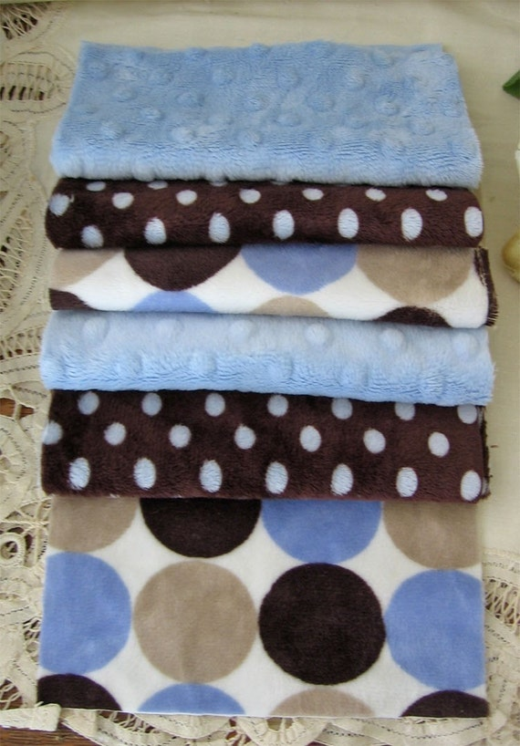 20 Minky Fabric Squares 6 Inch For Baby Boy Quilts