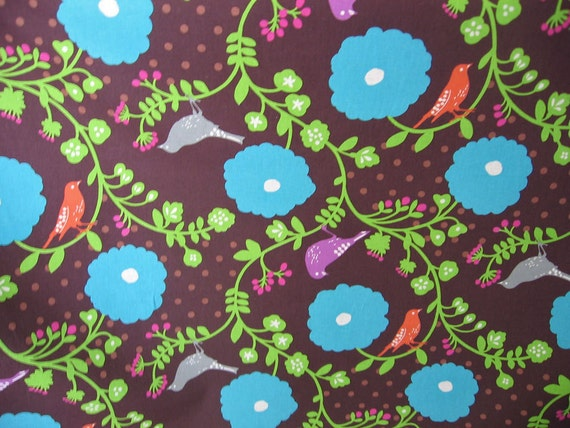 Custom order for Berenice  /Chocolate Echino blues Japanese Fabric 58 inch wide Madrigal print