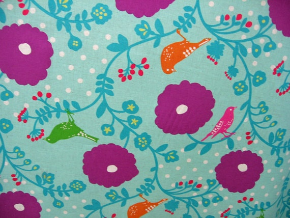 Birds flowers from Echino  Japanese Fabric extra wide 58 inch Madrigal print
