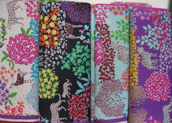 Safari sampler / Japanese Fabric Bundle / Echino Fabric Fall 2011 fat quarters