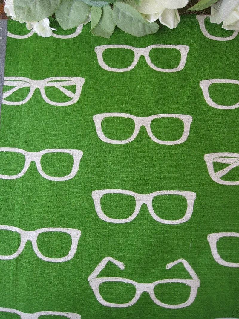 eye glasses japanese echino print fabric 1 yard
