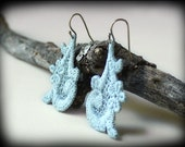 Lace Earrings - Versialles Style in Seafoam