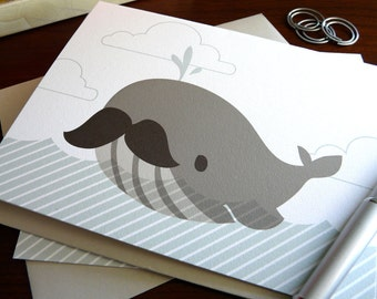Bernie the Whale Note Card