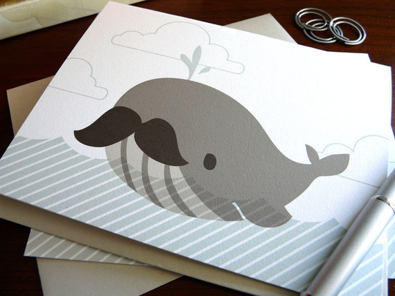 Bernie the Whale Note Card