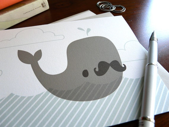 Charles the Whale Note Card