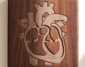 Heart 12x12 - Walnut
