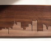 Pittsburgh Skyline. - 4x8 - Walnut