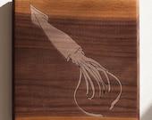 Squid 7x7 - Walnut