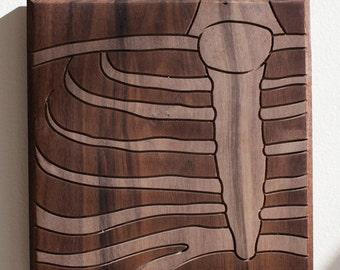 Skeleton Sternum 7x7 - Walnut