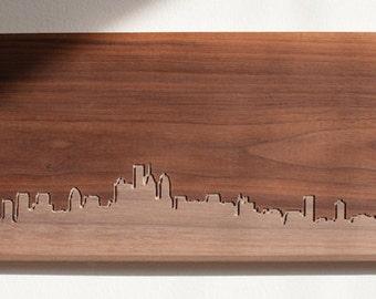 Philadelphia Skyline. - 6x12 - Walnut