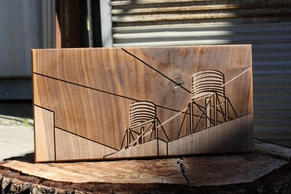 SALE - Dave Marcoullier - Wood Routing (Water Tanks 6x12) - Walnut