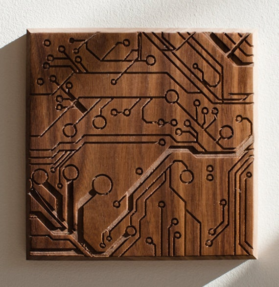 Circuit. - 7x7 - Walnut