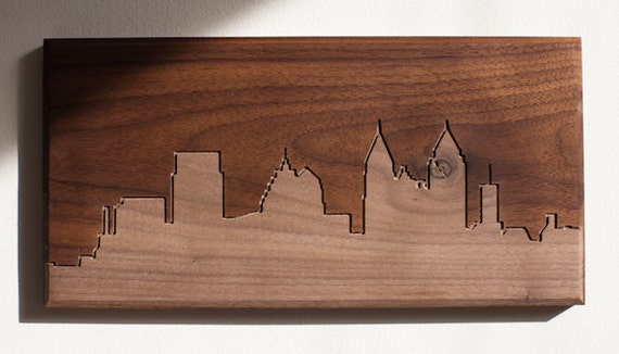 Atlanta Skyline. - 6x12 - Walnut