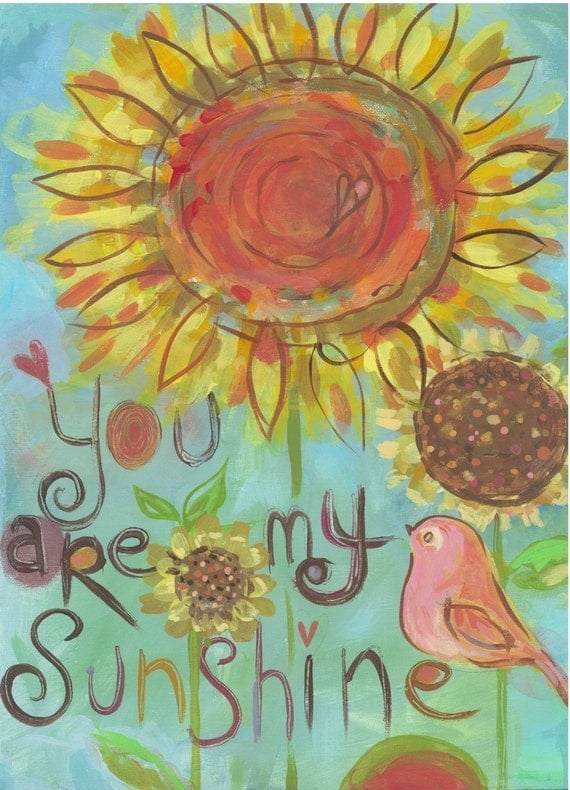 you are my sunshine - 12 x 16 with mat