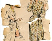 Vintage 1950s Robe Pattern Vogue 9384, Size Large, Bust 38 to 40