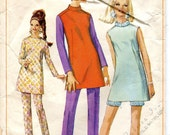 Three Vintage 1960s Sewing Patterns, Simplicity 5779, and 7360, and Advance 2736, Size 14, Bust 34