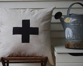 2 for the price of 1 large black cross pillows