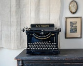 reserved for megan LC Smith Corona 8 10 in. antique typewriter