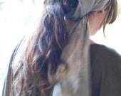 pale vespertine hemp silk scarf