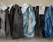 LAST ONE SALE grey vespertine organic jersey hood cowl