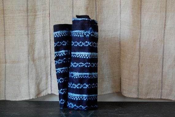 hand dyed indigo cloth senegal shibori