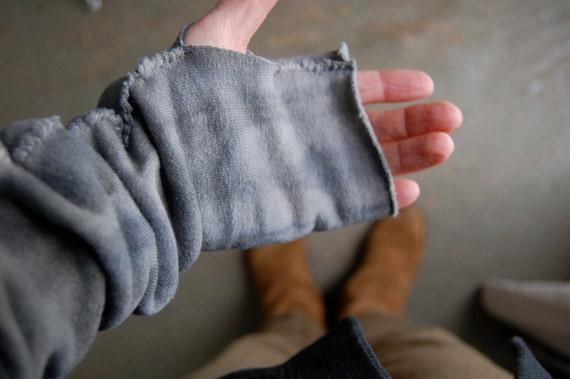last pair ON SALE arm warmers organic hemp fleece naturally hand dyed