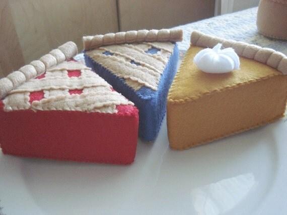 Play Food Felt Pie Slice Set