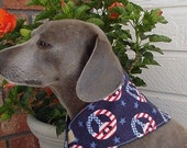 Patriotic Peace Neck Scarf Bandana for Small Dogs