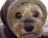 MEDIUM Performance Fleece Snoodie Pull On Dog Hood Ear Warmer Balaclava