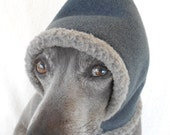 Warm Shearling Fleece Scoodie Ear Warmer for Small Dogs in 4 colors-custom made SMALL
