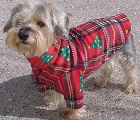 Plaid Fleece Christmas Sweater for Dogs-small only
