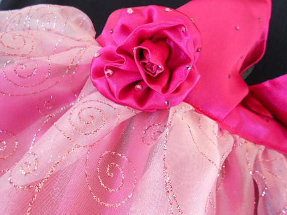 Celebrity Satin and Crystal Formal Luxury Dog Dress for weddings or anyday