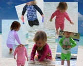 You Customize -- Toddler Two Piece Rashguard Sun Defense Swimsuit