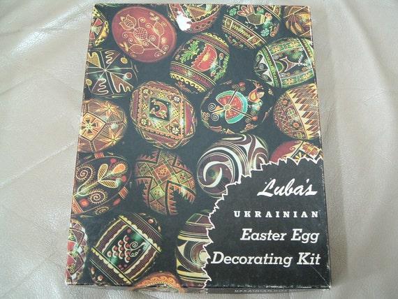 Vintage Luba's Ukrainian Easter Egg Decorating Kit
