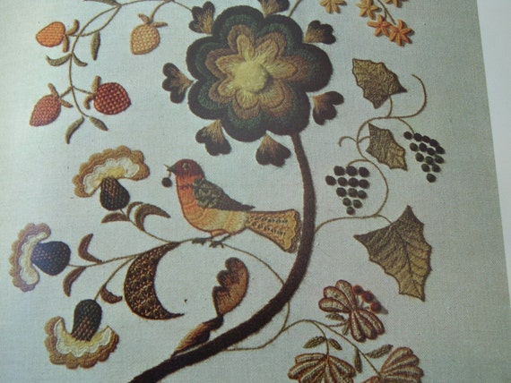 Vintage book crewel embroidery by erica wilson