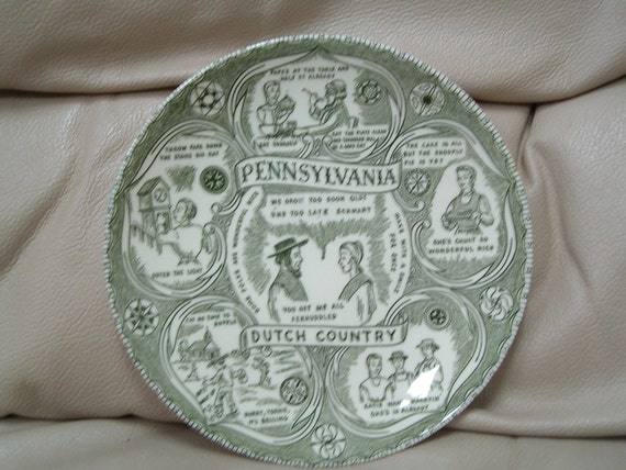 Vintage Pennsylvania Dutch Country collectors plate