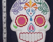 Sugar Skull, Day of the Dead, embroidery patch '1'