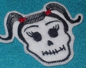Mini   -La Nina-  Skull Patch Day of the Dead