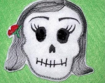 La Bonita Skull Patch Day of the Dead