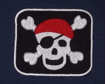 Happy Pirate Skull Patch - Ahoy Matey