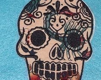 Day of the Dead, Sugar Skull EMBROIDERED patch 3