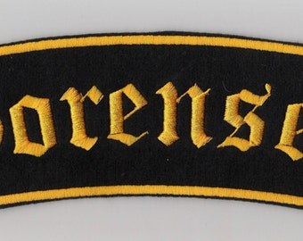 Old english Name Patch  extra large embroidery