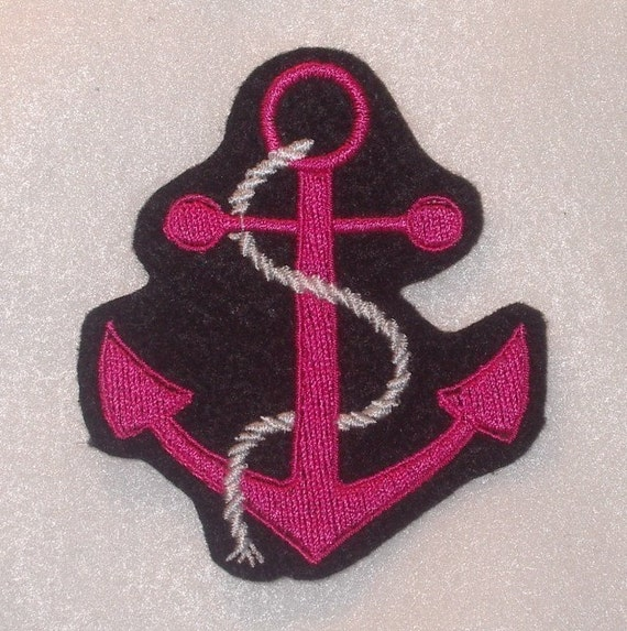 Anchor Felt Embroidery Patch